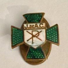 Pins de colección: PIN - INSIGNIA DE SOLAPA ESMALTADA - J. DE A.C. (A IDENTIFICAR). Lote 225491910