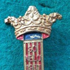 Pins de colección: INSIGNIA PIN ESMALTADO DE FALLERO FALLA PARADOR SO NELO 1971. Lote 226572494