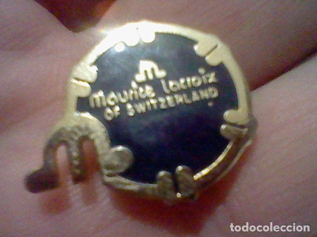 Pins de colección: MAURICE LACROIX SWIZERLAND PIN METAL PINTVRA LACADA PINCHO METAL DORADO 2 CMS ALTO - Foto 3 - 226619880