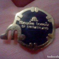 Pins de colección: MAURICE LACROIX SWIZERLAND PIN METAL PINTVRA LACADA PINCHO METAL DORADO 2 CMS ALTO. Lote 226619880
