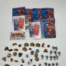 Pins de colección: LOTE PINS RELACIONADOS CON FUTBOL ( VER FOTOS ). Lote 235461460