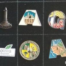 Pins de coleção: CUADRO 1-8 CON 10 PINS VARIADOS, EDUCACION, TURISMO, PUBLICIDAD. Lote 235838065