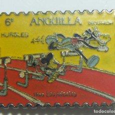 Pins de colección: PIN SELLO DE ANGUILLA. MICKEY MOUSE, JJOO LOS ANGELES 1984. Lote 236561570