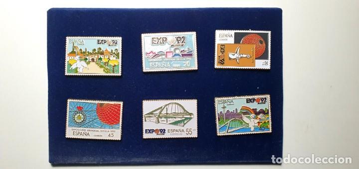 JUEGO PIN 6 PINS CORREOS EXPO 92 SEVILLA 1992 - ENVÍO GRATIS (Coleccionismo - Pins)