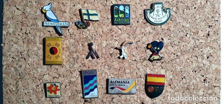 LOTE 12 PIN PINS EXPO 92 SEVILLA 1992 - ENVÍO GRATIS (Coleccionismo - Pins)
