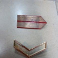Pins de colección: LOTE 2 GALONES MILITARES METÁLICOS. Lote 242439665