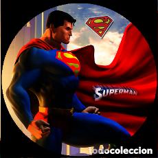 Pins de colección: SUPER MAN HEROE MARVEL CHAPA BOTON BADGE PIN IMPERDIBLE 58 MM. Lote 243720665