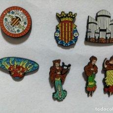 Pins de colección: PIN LOTE DE 7 DEL PALAU DE LA, MÚSICA BARCELONA. Lote 244953760