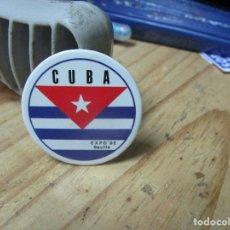 Pins de colección: PIN CHAPA PABELLON DE CUBA EXPO 92 SEVILLA. Lote 245502145