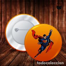 Pins de colección: SUPERMAN FLOTA CHAPA BOTON ALFILER PIN. Lote 246398925