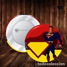 Pins de colección: CHAPA SUPERMAN SUPER HEROE BOTON BADGE PIN IMPERDIBLE 58 MM. Lote 246400155