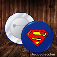 Pins de colección: CHAPA SUPERMAN LOGO BOTON BADGE PIN IMPERDIBLE 58 MM. Lote 246401790