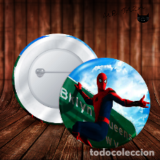 Pins de colección: SPIDERMAN SOBRE AVISO CHAPA BOTON BADGE PIN IMPERDIBLE. Lote 246405620