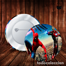 Pins de colección: SPIDERMAN AIRONMAN EN PLENA ACCION CHAPA BOTON BADGE PIN IMPERDIBLE. Lote 246405655