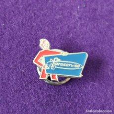 Pins de colección: INSIGNIA PUBLICITARIA DE OJAL. EUROSERVICE. ASISTENCIA RUTON, PHILIPS. ASKAR. PIN PINS. AÑOS 50-60.. Lote 246931165