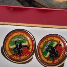 Pins de colección: LOTE PIN CLUB TAURINO CASTELLON. Lote 249070060