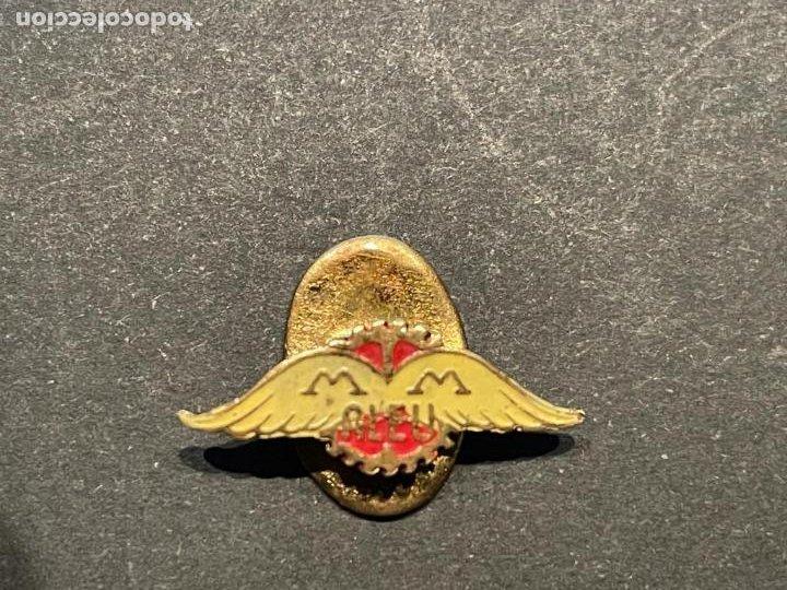 PIN - DIFICIL INSIGNIA DE SOLAPA MOTOCICLETAS MM ALEU (Coleccionismo - Pins)