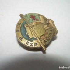 Pins de colección: ANTIGUA INSIGNIA....U.E.B.ESPAÑOLA...CRUZ ROJA.. Lote 254343975
