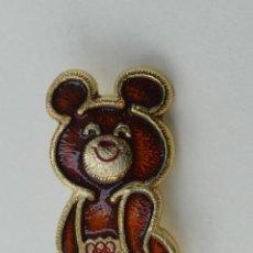 Pins de colección: PIN INSIGNIA DE COLECCION - MASCOTA MISHA JUEGOS OLIMPICOS MOSCU 80. Lote 254898975