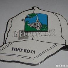 Pins de colección: PIN DEL PERIÓDICO INFORMACION - FONT ROJA. Lote 255356330