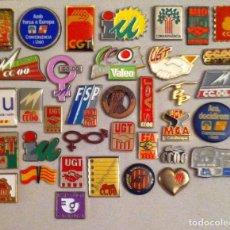 Pins de colección: LOTE 36 PIN O PINS POLITICOS SINDICALES. Lote 257451540