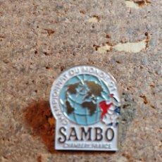 Spille di collezione: PIN DEL CAMPEONATO MUNDIAL DE SAMBO 91. Lote 259235585