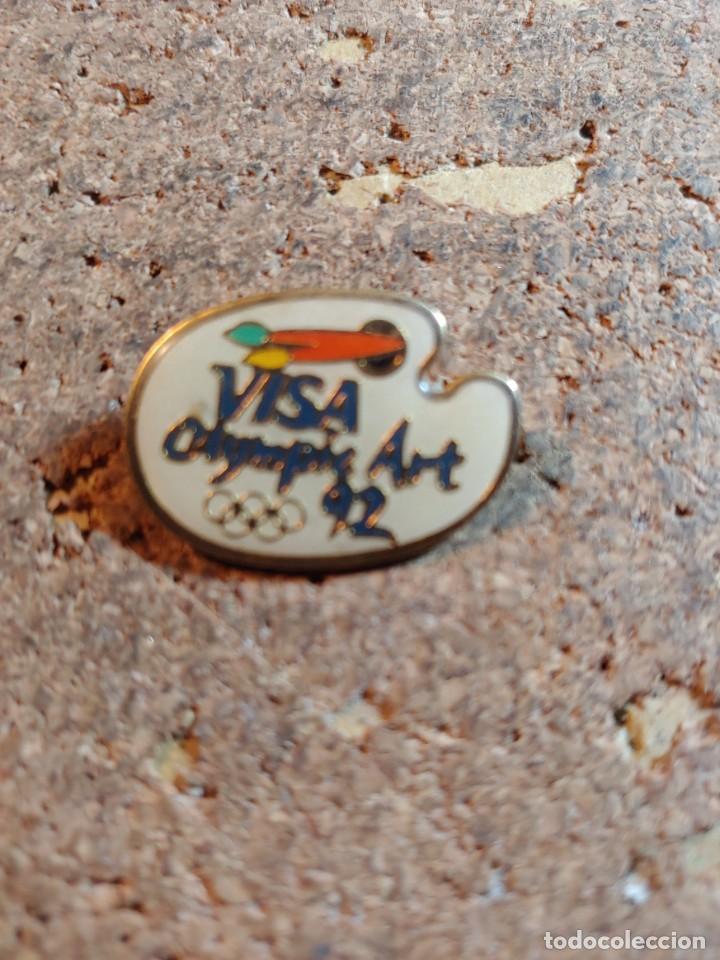 PIN DE LOS JUEGOS OLIMPICOS DEL 92 CON VISA (Coleccionismo - Pins)