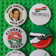 Pins de colección: PIN POLÍTICO 6 CHAPAS ANTIGUAS PNV. Lote 260080490