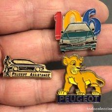 Pins de colección: 3 PINS COCHES PEUGEOT. Lote 261264550