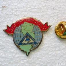 Pins de colección: PIN PIONEROS TELÉFONO TELEFONÍA USA. 1923 EJ HALL CHAPTER 25. TELEPHONE PIONEERS OF AMERICA. Lote 262449390
