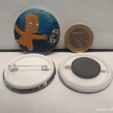 Pins de colección: CHAPA BOTON ALFILER PIN O IMAN NIRVANA SIMPSON 38MM PEPETO. Lote 262562225