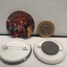 Pins de colección: CHAPA BOTON ALFILER PIN O IMAN REBELDES A FLOR DE PIEL 38MM PEPETO. Lote 262562395