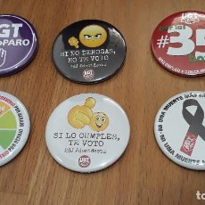 Pins de colección: 6 CHAPAS UGT. Lote 263597090
