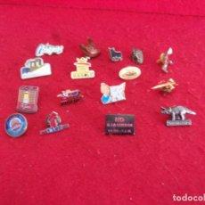 Pins de colección: LOTE PIN,BARCELONA 92,FUERZAS ARMADAS ES PECIALES,EL TORO DE OSBORNE NO A LAS GUERRA CCOO. Lote 263682585