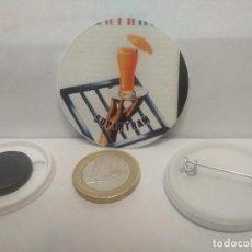 Pins de colección: CHAPA BOTON ALFILER PIN O IMAN SUPERTRAM 38MM PEPETO. Lote 265848279