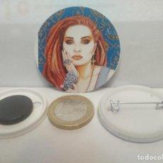 Pins de colección: CHAPA BOTON ALFILER PIN O IMAN ALASKA 38MM PEPETO. Lote 265848944