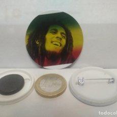 Pins de colección: CHAPA BOTON ALFILER PIN O IMAN BOB MARLEY 38MM PEPETO. Lote 265849374