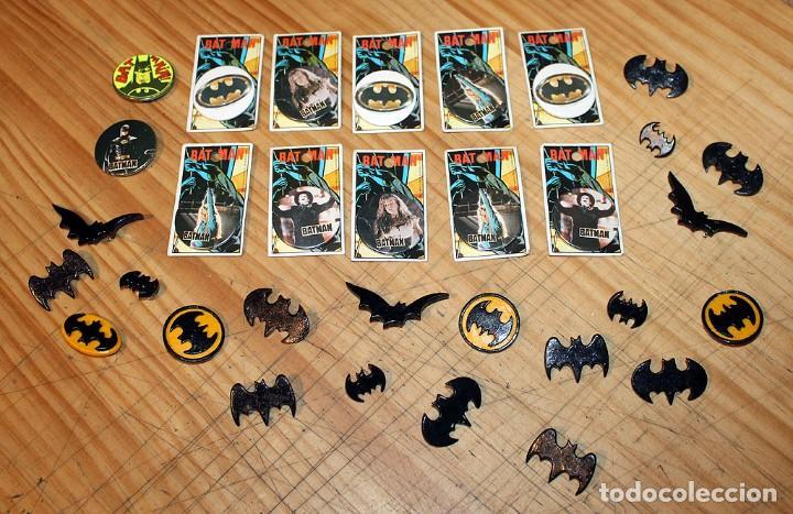 BATMAN - LOTE DE ANTIGUAS CHAPAS Y BROCHES - AÑOS 80/90 (Coleccionismo - Pins)