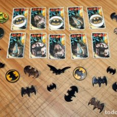 Pins de colección: BATMAN - LOTE DE ANTIGUAS CHAPAS Y BROCHES - AÑOS 80/90. Lote 267389694