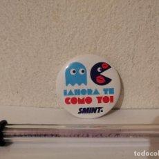 Pins de colección: CHAPA PIN - AHORA TE COMO YO - PINS - SMINT - PAC-MAN. Lote 267692944
