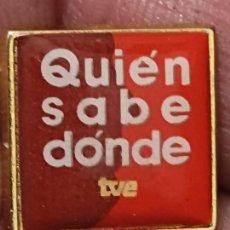Pins de colección: TVE QUIEN SABE DONDE TELEVISION ORIGINAL 1,5 CMS PIN PROGRAMA PACO LOBATON. Lote 267899984