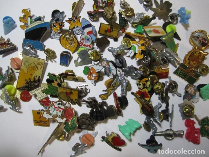 LOTE MAS DE 80 PINS VARIOS COCACOLA DISNEY ARIEL PRYCA (Coleccionismo - Pins)