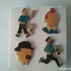 Pins de colección: LOTE DE 4 PINS DE TINTIN. Lote 269420128