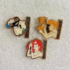 Pins de colección: 676.LOTE 3 PIN INSIGNIA LLONGUERAS. Lote 276609223