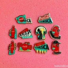 Pins de colección: 684.LOTE 10 PIN INSIGNIA COCA-COLA MUSICA. Lote 276609343