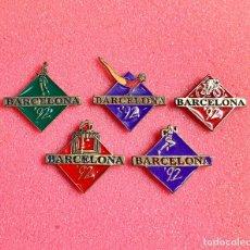 Pins de colección: 723.LOTE 5 PIN INSIGNIA BARCELONA 92. Lote 276610033