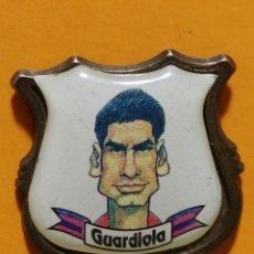 Pins de colección: PIN GUARDIOLA FC BARCELONA CARICATURA. Lote 277203278