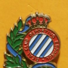 Pins de colección: PIN ESCUDO REAL, DEPORTIVO ESPAÑOL FUTBOL. Lote 277204208
