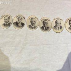 Pins de colección: LOE DE 6 CHAPAS ANTIGUAS PERSONALIZADAS PRESIDENTES DE CATALUÑA DESDE LOS AÑOS 1586 A 1940. Lote 277703693