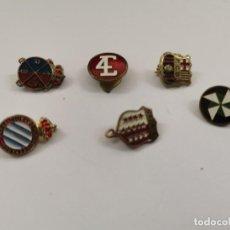 Pins de colección: JOY-1703. LOTE DE 6 PINS METALICOS ESMALTADOS. S.XX.. Lote 277723768